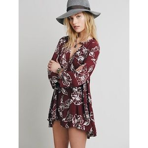 Free People | floral foil swing tunic top